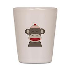 Sock Monkey Shot Glass