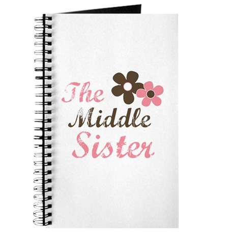 the middle sister pink brown flower Journal