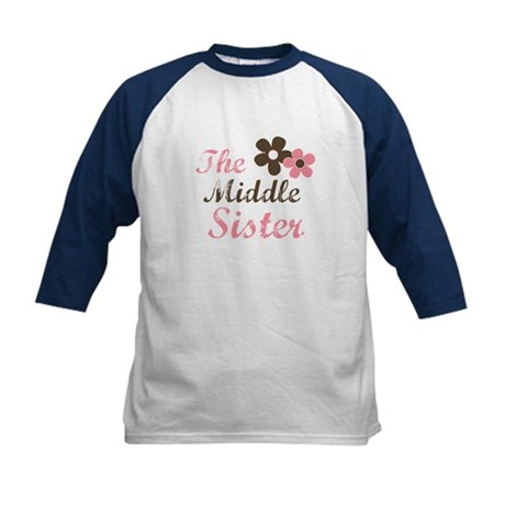 the middle sister pink brown flower Kids Baseball