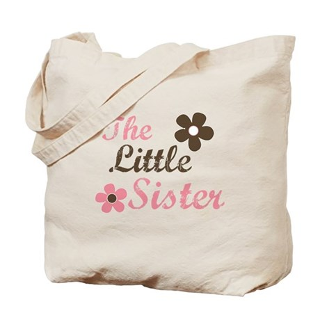 the little sister pink brown flower Tote Bag