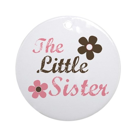 the little sister pink brown flower Ornament (Roun