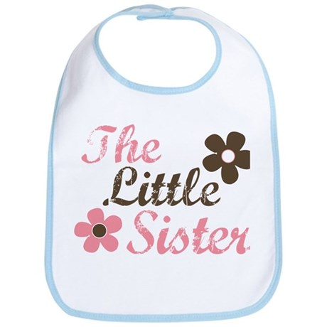 the little sister pink brown flower Bib