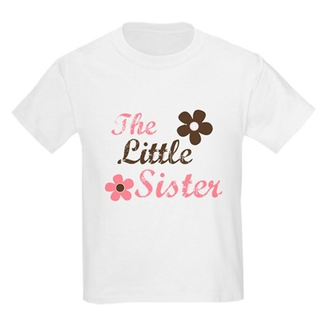 the little sister pink brown flower Kids Light T-S