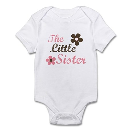 the little sister pink brown flower Infant Bodysui