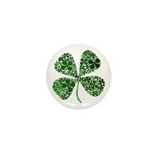 Infinite Luck Four Leaf Clover Mini Button