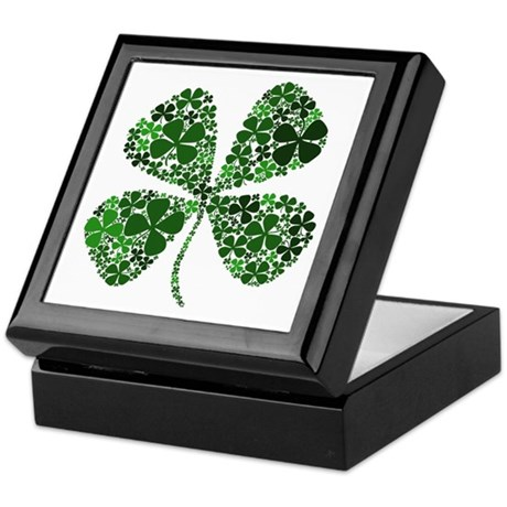 Infinite Luck Four Leaf Clover Keepsake Box