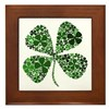 Infinite Luck Four Leaf Clover Framed Tile