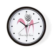 Pink Beauty Holiday Season Gift Wall Clock