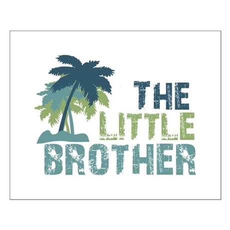 little brother palm tree Small Poster