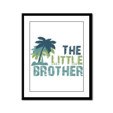 little brother palm tree Framed Panel Print