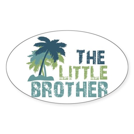 little brother palm tree Oval Sticker