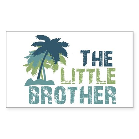 little brother palm tree Rectangle Sticker