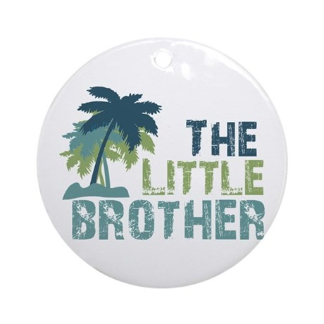 little brother palm tree Ornament (Round)