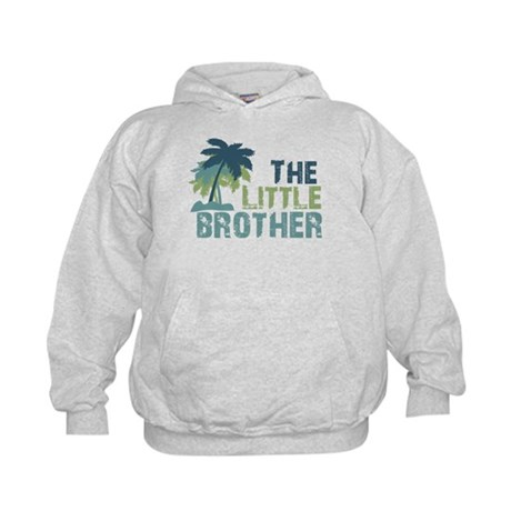 little brother palm tree Kids Hoodie