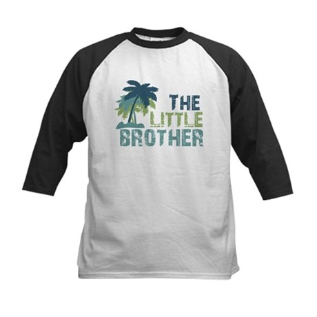 little brother palm tree Kids Baseball Jersey