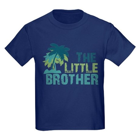 little brother palm tree Kids Dark T-Shirt