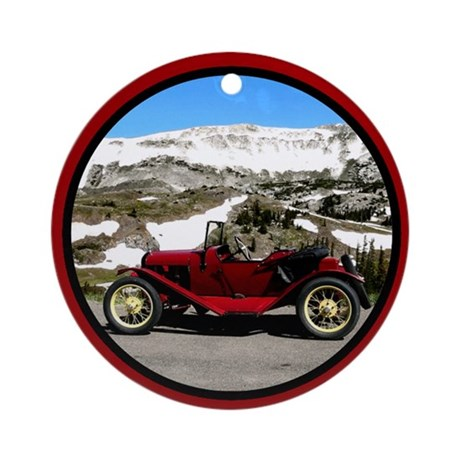 Vintage Automobile Ornament (Round)