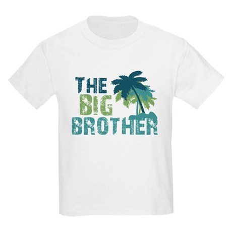 big brother palm tree Kids Light T-Shirt