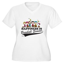 The Peanuts Gang Women's Plus Size V-Neck T-Shirt