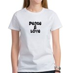Peace & love Women's T-Shirt
