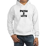 Peace & love Hooded Sweatshirt