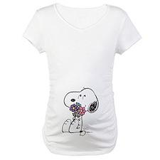 Springtime Snoopy Maternity T-Shirt