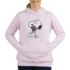 Springtime Snoopy Women's Hooded Sweatshirt