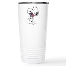 Springtime Snoopy Stainless Steel Travel Mug