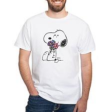 Springtime Snoopy White T-Shirt