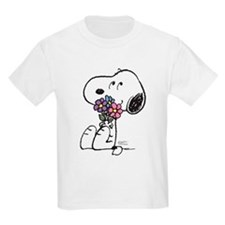 Springtime Snoopy Kids Light T-Shirt