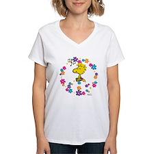 Woodstock Peace Women's V-Neck T-Shirt