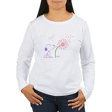 Snoopy Dandelion Women's Long Sleeve T-Shirt