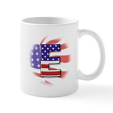 Flag Monogram E Mug