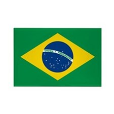 """Brazil Flag"" Rectangle Magnet (100 pack)"