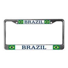 """Brazil Flag"" License Plate Frame"