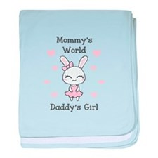 MOMMYS WORLS DADDYS GIRL baby blanket