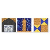 Castle Quilt Mural Bumper Sticker #2