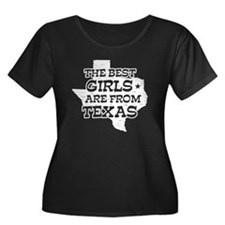 Texas Girl Women's Plus Size Scoop Neck Dark T-Shi