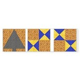 Castle Quilt Mural Bumper Sticker #3