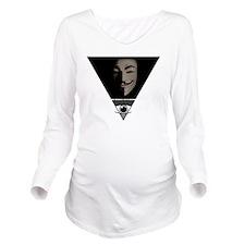 Cute Political Long Sleeve Maternity T-Shirt