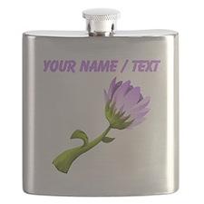 Custom Purple Flower Flask