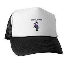 Custom Purple Zombie Trucker Hat