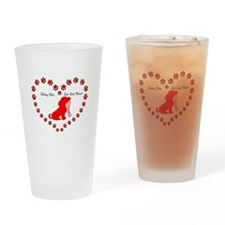 Skinny Pete Red Drinking Glass