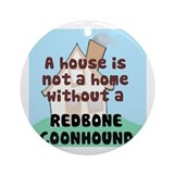 Redbone Home Ornament (Round)
