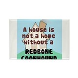 Redbone Home Rectangle Magnet