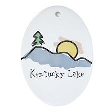 Lake Sunset Ornament (Oval)