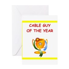 cable tv Greeting Cards