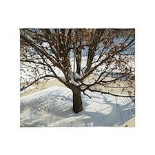Winter Tree Throw Blanket