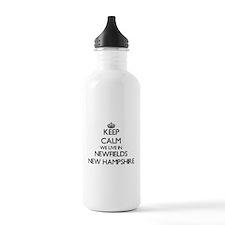 Keep calm we live in N Water Bottle