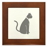 Gray Cat Framed Tile